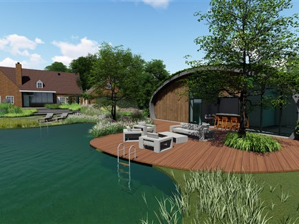 pool house 2 - buro buitenom en new-ton